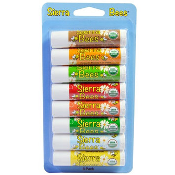 Sierra Bees, Organic Lip Balms, Variety Pack, 8 Pack [Flavor : Variety]