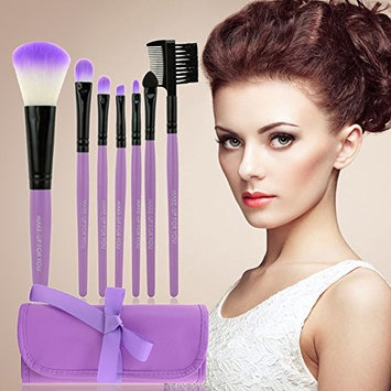 Makeup Brush Set - 7 Pieces/Set Makeup Brushes Set Kit with Bag Case Blush Eyeshadow Lip Brush Powder Foundation Blending Beauty Tools