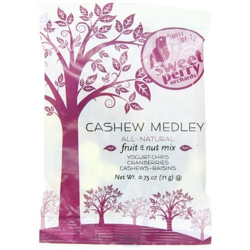 GoPicnic Sweet Perry Orchards Cashew Medley Fruit & Nut Mix, Snack Packs, 0.62 Oz 50 Count [Cashew Medley]