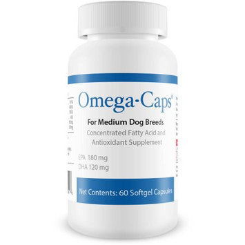 Omega-Caps For Medium Dogs, 60 Softgel Capsules