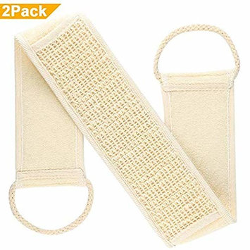 2 PCS Exfoliating Loofah Back Scrubber,Bathing Sponge and Body Cleaner for Men,Women and Kids