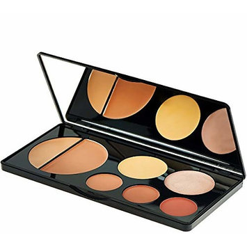 EVE PEARL Flawless Face Contour Palette Full Coverage Foundation Concealer Blush Highlighting Skincare Make Up Set- Dark