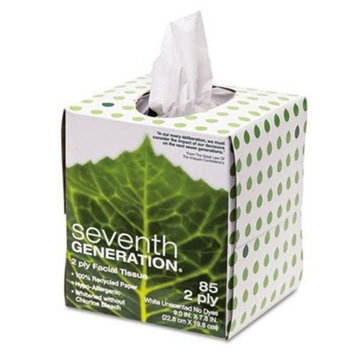 Seventh Generation Facial Tissues Cube, 2 Ply, 85 sheets