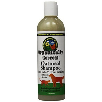 Organically Correct Oatmeal Shampoo for Dogs and Cats, 17-Ounce