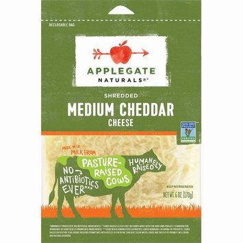 Applegate, Natural Shredded Medium Cheddar Cheese, 6oz