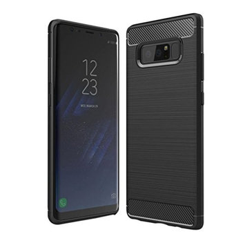 Samsung Galaxy Note 8 Case,AutumnFall For Samsung Galaxy Note 8 Slim Carbon Fiber TPU Protective Back Case Cover