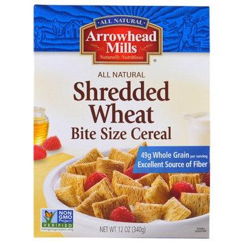 Arrowhead Mills, Shredded Wheat, Bite Size Cereal, 12 oz (pack of 6)
