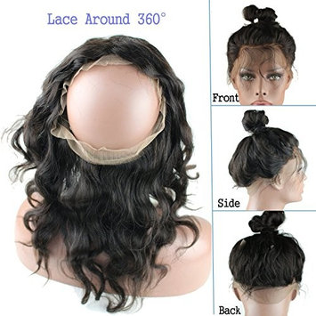 Quercy Hair 360 Lace Band Frontal Body Wave Remy Human Hair with Natural Hairline for Black Women Natural Color