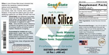 Good State Liquid Ionic Silica (48 Servings At 125mg Each Plus 2 Mg Fulvic Acid)