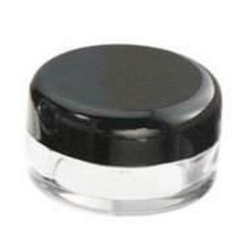 25pcs New Empty Cosmetic Storage Containers Black Cap Clear Base Plastic Cosmetic Containers 5 Gram Size Pot Jars Eye Shadow Container Lot Size:Diameter: 1 1/4