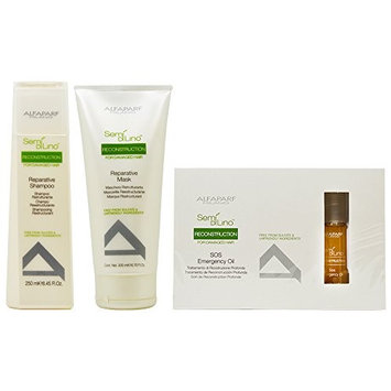 Alfaparf Group Alfaparf Semi Di Lino Reconstruction Treatment 3-Piece Haircare Sets
