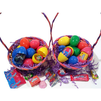 Bulk Filled Easter Eggs for Hunt Candy Chocolate & Toys, Assort Colors & Styles