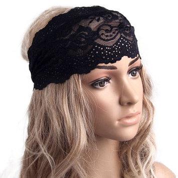 Binmer(TM) Fashion Hairband Gentlewomen Yoga Elastic Hair Band Vintage Cutout Lace Decoration Headband