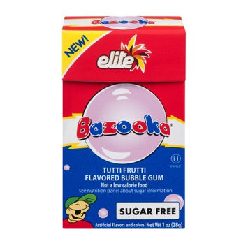 Elite Home Fashions Gum Sf Bazooka Tutti Frut 1 OZ (Pack Of 16)