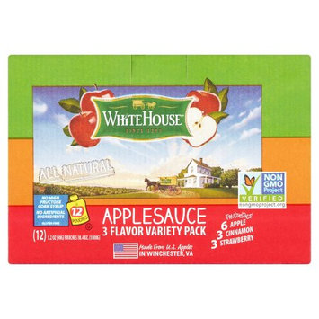 White House Foods White House Fruitastics 3 Flavor Applesauce Variety Pack, 3.2 oz, 12 pack