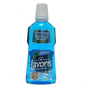 Lavoris Mouthwash, Original Peppermint 15 fl oz /444 ml (PACK of 2)