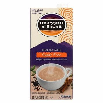 Oregon Chai Tea Latte Concentrate - Sugar Free - Pack of 6 - 32 Fl Oz.