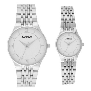 Surface His & Hers Silver Watch Set
