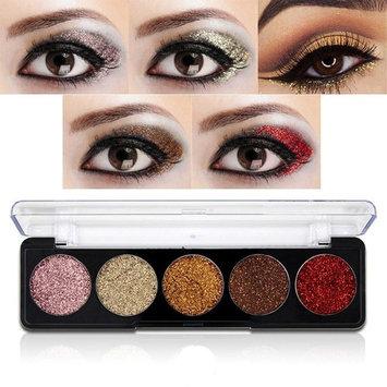 Glitter Powder Makeup Palette,Vodisa Pressed Glitter Eyeshadow Palette Long-Lasting Metallic Shimmer Eye shadow Pallet Eyes Makeup Glitter Highly Pigmented Mineral Pressed Glitter Cosmetic Makeup