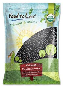 Food To Live ® Organic Black Turtle Beans (Dried, Non-GMO, Bulk) (25 Pounds)