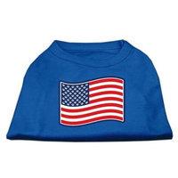 Ahi Paws and Stripes Screen Print Shirts Blue Lg (14)