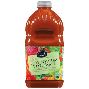 L&A 100% Juice, Low Sodium Vegetable, 64 Fl Oz, 1 Count