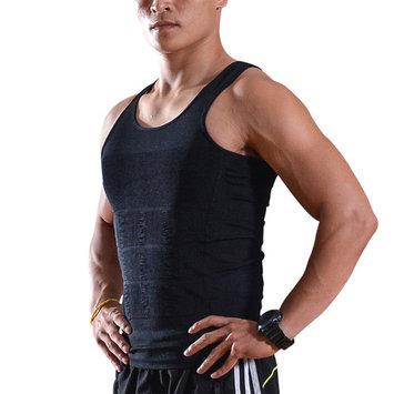 Image Men Compression Shirt Slimming Body Shaper Vest Shapewear Undershirt Size M