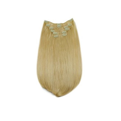Tressecret Synthetic Clip-In Six Piece Extensions, Swedish Blonde, 22 Inch
