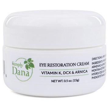 Simply Dana Eye Restoration Cream - Vitamin K, DCX & Arnica - Remove Dark Circles 0.5 oz (15g)