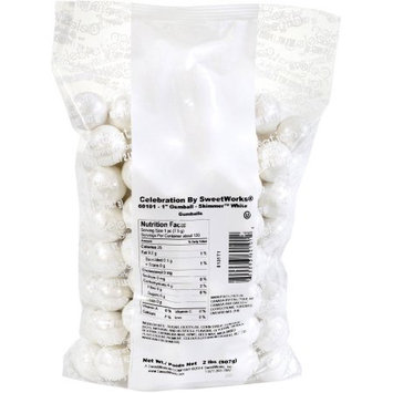 Sweetworks Confections, Llc Shimmer White Gumballs 2lb (Each)
