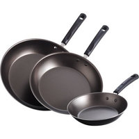 Mainstays 3-Piece Non-Stick Saute Set, Black