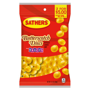 Sathers Butterscotch Discs Hard Candy, 12.5 Ounce Bag