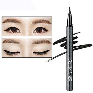 Creazy Easy to Makeup Black Extremely Slim Smooth Liquid Eyeliner Pen Waterproof