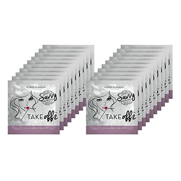 Take Offz 20 Pack Makeup Remover Facial CLeanser Wipes !