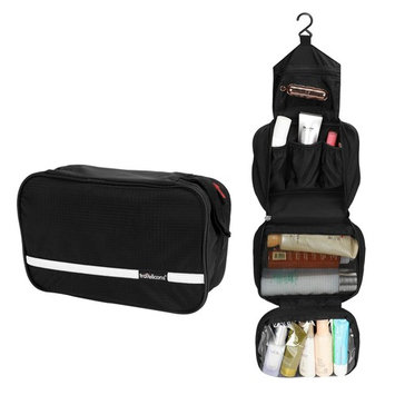 Coisum Hanging Toiletry Bag | 6.8L Large Toiletry Kit for Men | Portable Foldable Waterproof Cosmetic Bag Makeup Bag for Women | Shower Bag Use in Hotel, Bathroom, Airplane, Camping