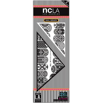 NCLA Designer Nail Wraps - Ametrine - Includes 26 Ultra Thin Self-Adhesive Wraps and Nail File