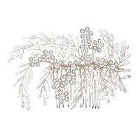 LISALI Silver Women's Hair Comb Accessories Bridal Hair Pieces Hairpin Wedding Hair Accessories