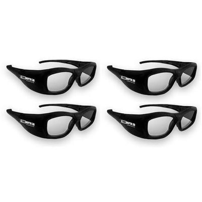 True Depth 3D® RECHARGEABLE Glasses for Sony 3D TVs! (4 Pairs)