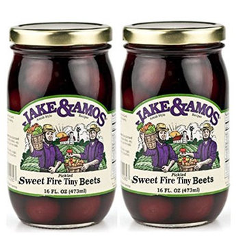 Dv Foods Jake and Amos Sweet Fire Tiny Beets - 2 - 16 oz. Jars