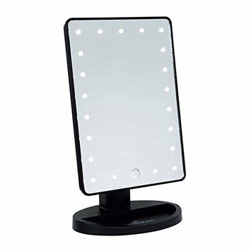 DANIELLE LED Lighted Hollywood Mirror with Dimmer Black 10.5