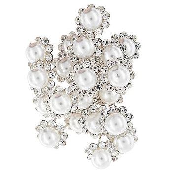 20 PCS U-shaped Bridal Pearl Hair Bobby Pins, Wedding Prom Rhinestone Rose Bun Hair clips for Women and Girls