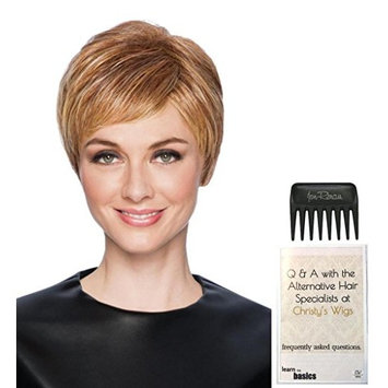 Feather Cut Wig by Hairdo, 15 Page Christy's Wigs Q & A Booklet & Wide Tooth Comb COLOR SELECTED: R3329S+