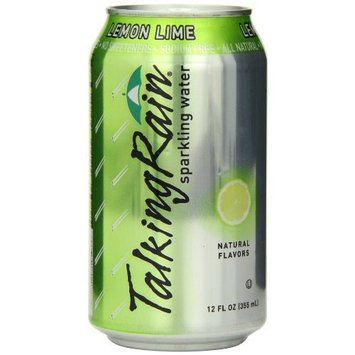 TalkingRain Sparkling Water, Lemon Lime, 12-Ounce Cans (Pack of 24)