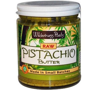 Wilderness Poets Pistachio Butter - Raw & Organic - 3 Jars - 8 oz (227g) each