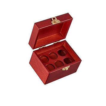 Wooden Storage Box For 6 Essential Oil Bottles - 10ml size by Organic Aromas