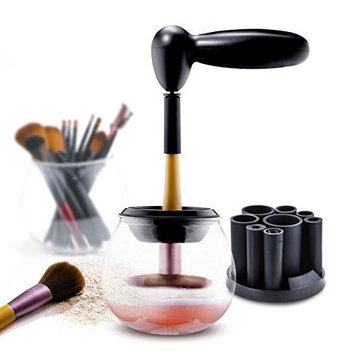 Electronic Makeup Brush Cleaners, WINSSES Portable Automatic Brushes Cleaner and Dryer Tool Kits, Quickly Wash and Dry All Kinds of Makeup Brushes with 8 Rubber Holders