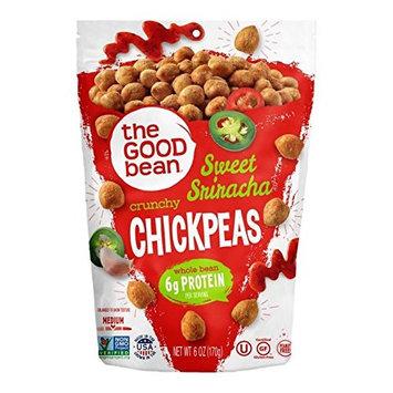 The Good Bean Chickpeas Snacks, Crunchy Sweet Sriracha, Gluten Free and Non-GMO, 6 Ounce