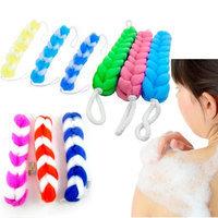 Alltopbargains 3 Back Scrubber Bath Shower Mesh Sponge Exfoliating Body Brush Wash Puff Spa New