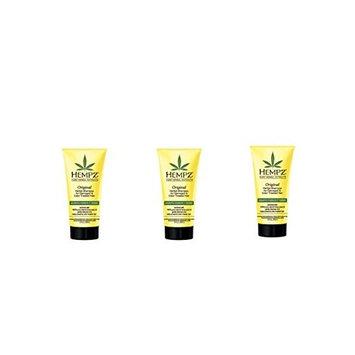 Hempz Original Herbal Shampoo ~ Travel Set Of 3 ~ 3 oz Each / total 9 fl oz