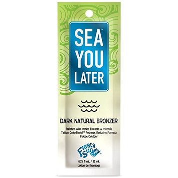 Lot of 5 Sea You Later Bronzer Tanning Lotion Packets